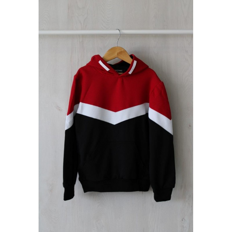 SUDADERA  RELIEVE RAYAS